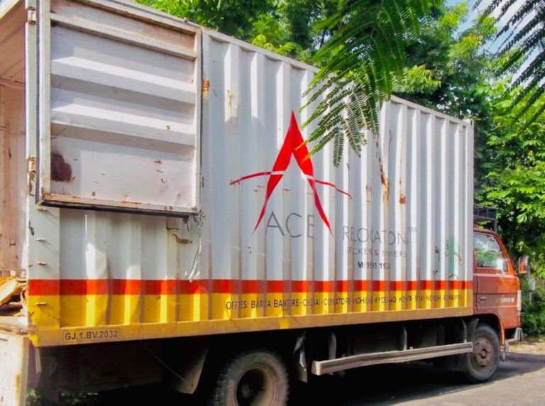 Container vehicle - packers and movers Ahmedabad
